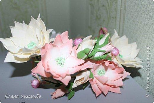 Веночки для племяшек-двойняшек с цветами из фоамирана фото 2