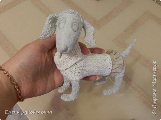 Очень давно я мечтала о такой собачке! Руки мои наконец-то дошли и у меня сотворилось вот такое милое создание. Решила и вам показать процесс её создания. фото 12