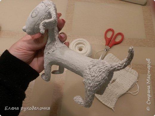 Очень давно я мечтала о такой собачке! Руки мои наконец-то дошли и у меня сотворилось вот такое милое создание. Решила и вам показать процесс её создания. фото 8