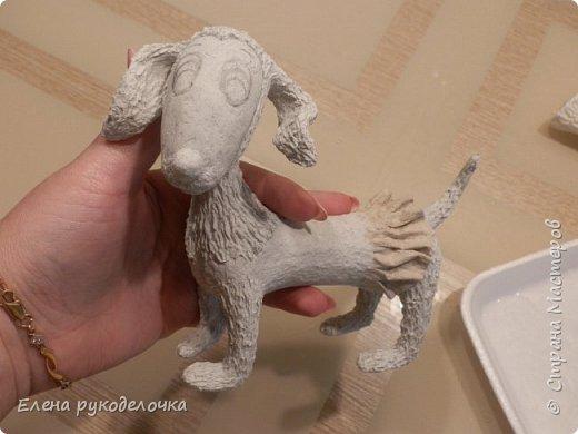 Очень давно я мечтала о такой собачке! Руки мои наконец-то дошли и у меня сотворилось вот такое милое создание. Решила и вам показать процесс её создания. фото 9