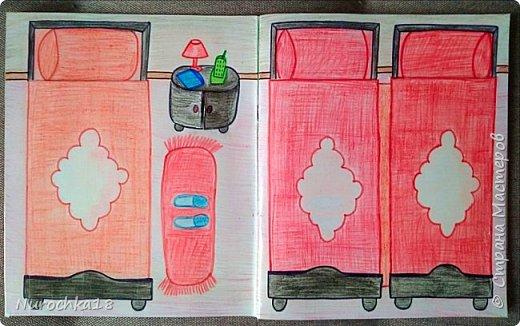 Доброго времени суток! Вот решила поделиться с вами своим видением бумажного кукольного домика, результатом своего труда. Этот бумажный домик был мною сделан для моей крестницы. Уж очень много у неё накопилось бумажных кукол :) фото 3