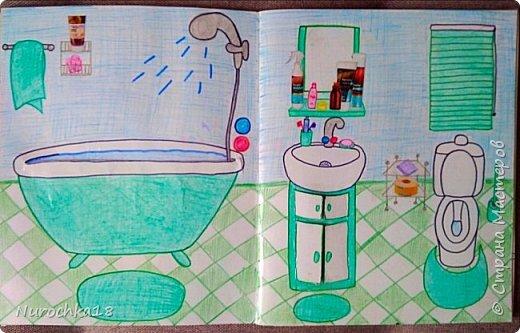 Доброго времени суток! Вот решила поделиться с вами своим видением бумажного кукольного домика, результатом своего труда. Этот бумажный домик был мною сделан для моей крестницы. Уж очень много у неё накопилось бумажных кукол :) фото 5