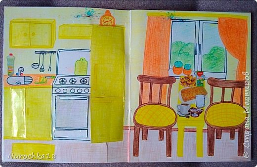 Доброго времени суток! Вот решила поделиться с вами своим видением бумажного кукольного домика, результатом своего труда. Этот бумажный домик был мною сделан для моей крестницы. Уж очень много у неё накопилось бумажных кукол :) фото 10