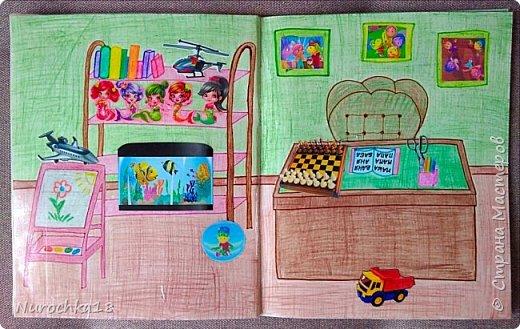 Доброго времени суток! Вот решила поделиться с вами своим видением бумажного кукольного домика, результатом своего труда. Этот бумажный домик был мною сделан для моей крестницы. Уж очень много у неё накопилось бумажных кукол :) фото 15