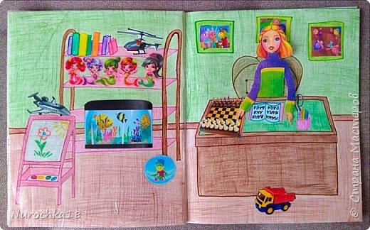 Доброго времени суток! Вот решила поделиться с вами своим видением бумажного кукольного домика, результатом своего труда. Этот бумажный домик был мною сделан для моей крестницы. Уж очень много у неё накопилось бумажных кукол :) фото 16