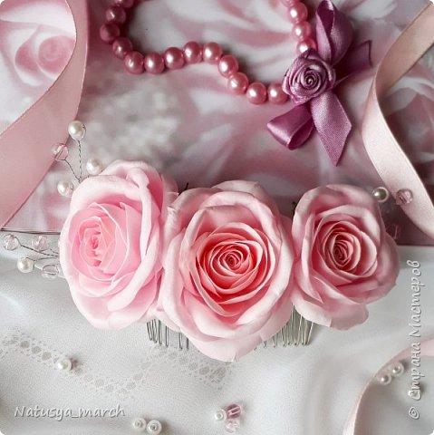 Брошь с розой из фоамирана фото 3