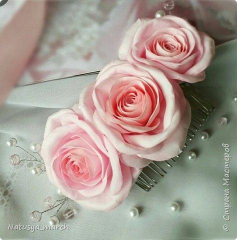 Брошь с розой из фоамирана фото 4