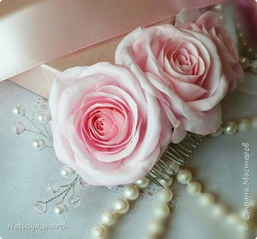 Брошь с розой из фоамирана фото 5