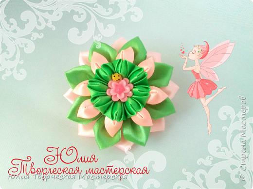 Интересный цветок канзаши Новый лепесток Мастер класс