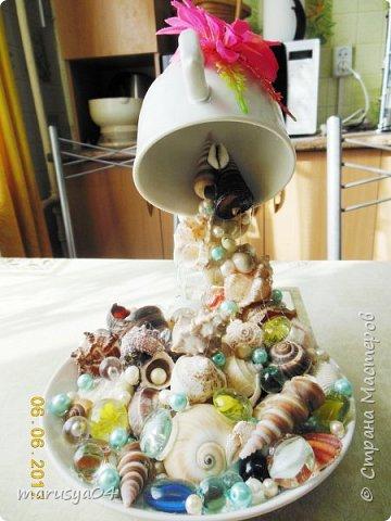 """Мечты сбываются - так давно хотела сделать)))) Плюсик в список пожеланий. Сваяла маме на День Рождения... Как довезти только не знаю - все боюсь, что чашка перестанет """"парить""""... фото 2"""