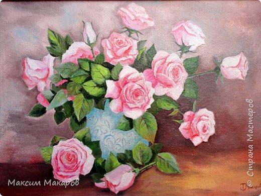 Доброе утро дорогие друзья, сегодня я хочу поделится с вами работой моей жены Татьяны.  Эту картину она нарисовал для знакомой в честь Дня рождения. фото 2