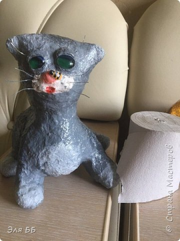 Благодаря МК Оль.гуньчик http://stranamasterov.ru/node/1056345?c=favorite у меня на даче теперь будет жить котейка. На фоне  хомячьих запасов для будущих поделок))) фото 6