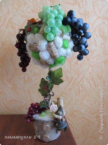 Дорогие мастерицы предоставляю вашему вниманию мое новое виноградное дерево, уж очень мне нравится их делать)))))) фото 1