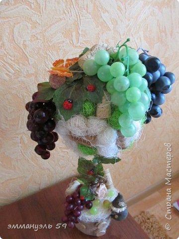 Дорогие мастерицы предоставляю вашему вниманию мое новое виноградное дерево, уж очень мне нравится их делать)))))) фото 2