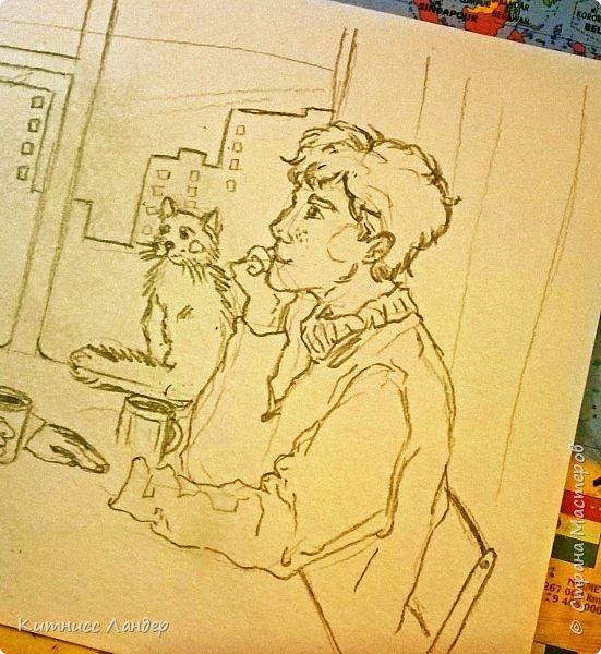 Добрый вечер! Подсобирала я потихоньку новых фотографий, сделала еще несколько открыток и нашла снимки работ, которые ушли подарками друзьям-знакомым. Теперь показываю...   Это единственная в своем роде в моем творчестве попытка переложить мультяшный рисунок к более-менее реалистичному. Техника: сухая пастель. Ноябрь 2016 фото 2