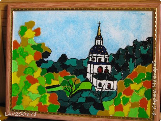 Уж очень захотелось порисовать... Опять таки в интернете нашла фото Киевского монастыря на Выдубичах фото 1