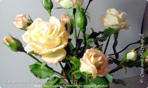 Добрый вечер мастера и мастерицы!!!!Вот такой букет роз слепила для себя любимой,а то сапожник без сапог,в доме не осталось ни одной розы. фото 3