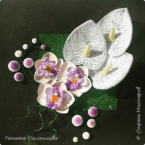 Накопились у меня разные цветочки, и решила я из них сделать небольшие декоративные панно.... фото 4