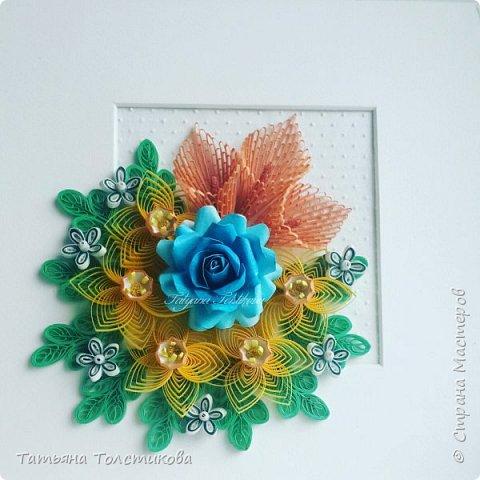 Накопились у меня разные цветочки, и решила я из них сделать небольшие декоративные панно.... фото 6