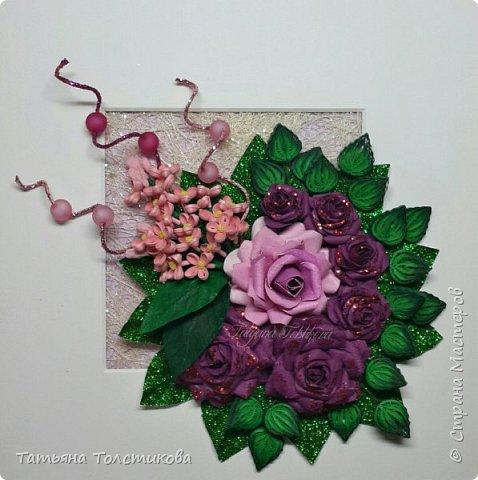 Накопились у меня разные цветочки, и решила я из них сделать небольшие декоративные панно.... фото 14