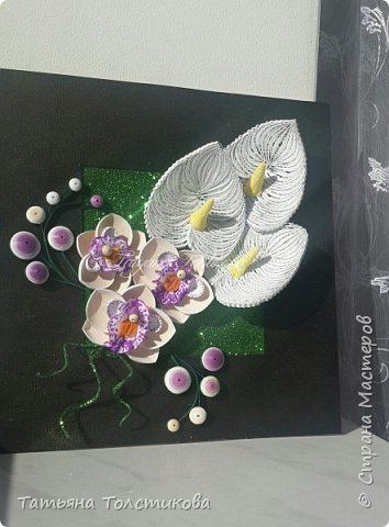 Накопились у меня разные цветочки, и решила я из них сделать небольшие декоративные панно.... фото 5