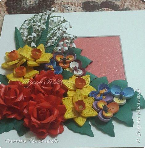Накопились у меня разные цветочки, и решила я из них сделать небольшие декоративные панно.... фото 9