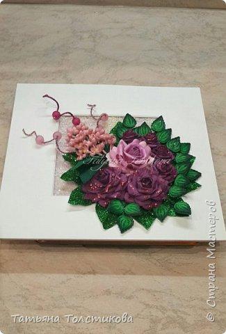 Накопились у меня разные цветочки, и решила я из них сделать небольшие декоративные панно.... фото 15