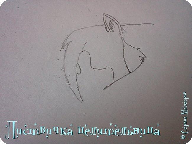 Всем привет! Сегодня я покажу вам, как нарисовать персонажа книги Коты-воители. Её зовут Пестролистая. фото 7