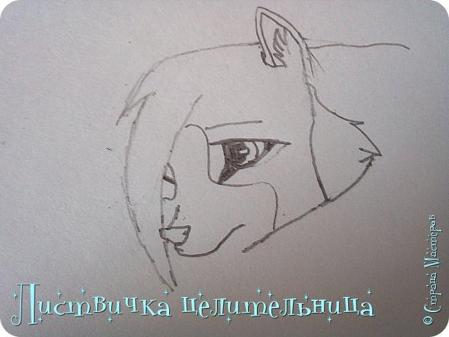 Всем привет! Сегодня я покажу вам, как нарисовать персонажа книги Коты-воители. Её зовут Пестролистая. фото 10