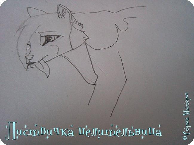 Всем привет! Сегодня я покажу вам, как нарисовать персонажа книги Коты-воители. Её зовут Пестролистая. фото 14
