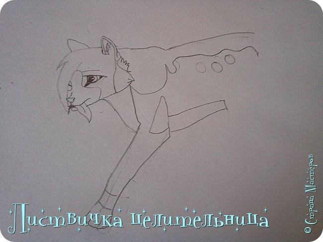 Всем привет! Сегодня я покажу вам, как нарисовать персонажа книги Коты-воители. Её зовут Пестролистая. фото 16