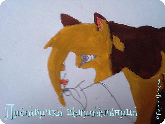 Всем привет! Сегодня я покажу вам, как нарисовать персонажа книги Коты-воители. Её зовут Пестролистая. фото 21