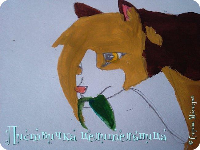 Всем привет! Сегодня я покажу вам, как нарисовать персонажа книги Коты-воители. Её зовут Пестролистая. фото 22