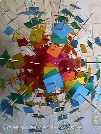 Такой подвеской - мандалой      можно украсить помещение  для праздника  .На фото  видны колокольчики   внизу подвески  ( фото № 6, 8)   фото 6