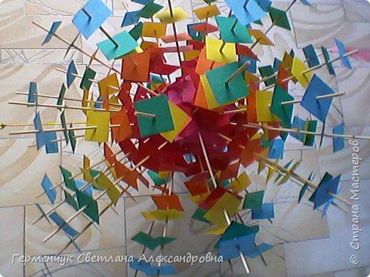 Такой подвеской - мандалой      можно украсить помещение  для праздника  .На фото  видны колокольчики   внизу подвески  ( фото № 6, 8)   фото 9