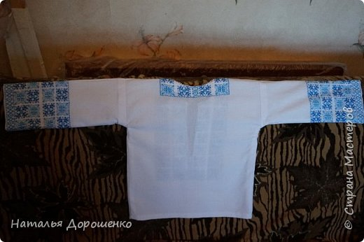 """Вишиванка-мечта, """"сапожник с сапогами"""". материал блузки-лен. фото 11"""