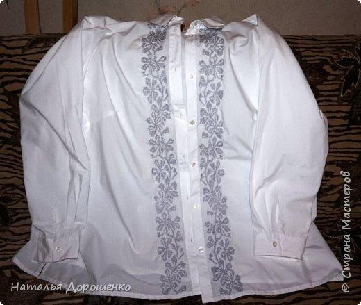 """Вишиванка-мечта, """"сапожник с сапогами"""". материал блузки-лен. фото 6"""