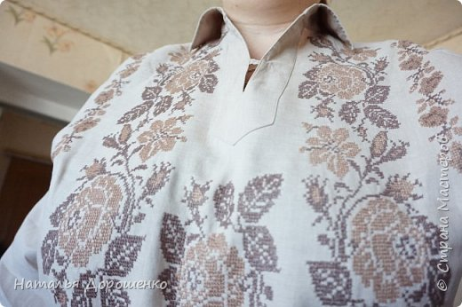 """Вишиванка-мечта, """"сапожник с сапогами"""". материал блузки-лен. фото 1"""