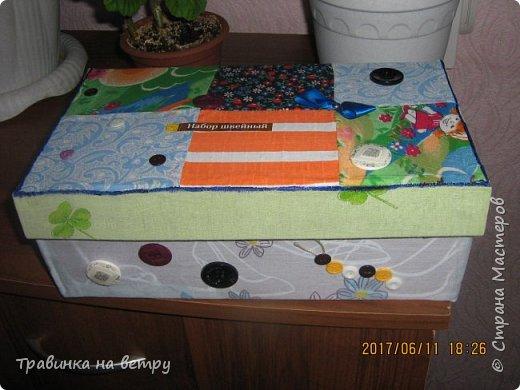 Коробочка для швейных принадлежностей.Для знакомой. фото 1