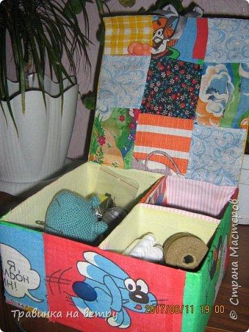 Коробочка для швейных принадлежностей.Для знакомой. фото 6