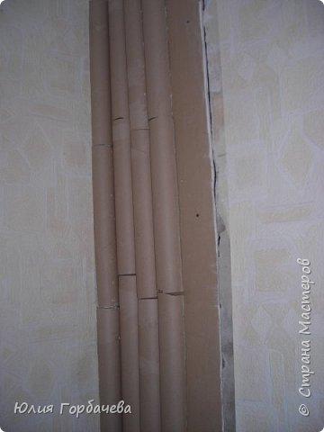 Бамбук из картонных труб. фото 5