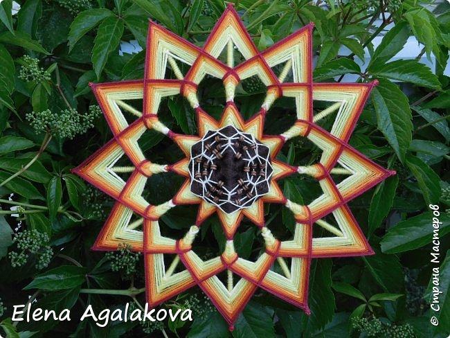 Лето продолжается а с ним творчество! Подсолнух - Этот солнечный цветок – главный символ оптимизма, веселья и благополучия. Я очень его люблю! Вот такая мандала, заряжающая положительной энергией сплелась вчера. фото 3