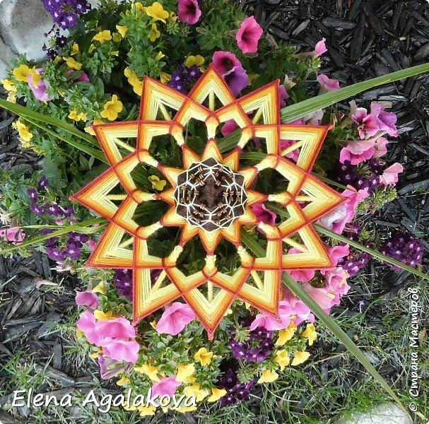 Лето продолжается а с ним творчество! Подсолнух - Этот солнечный цветок – главный символ оптимизма, веселья и благополучия. Я очень его люблю! Вот такая мандала, заряжающая положительной энергией сплелась вчера. фото 2
