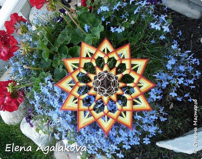 Лето продолжается а с ним творчество! Подсолнух - Этот солнечный цветок – главный символ оптимизма, веселья и благополучия. Я очень его люблю! Вот такая мандала, заряжающая положительной энергией сплелась вчера. фото 1