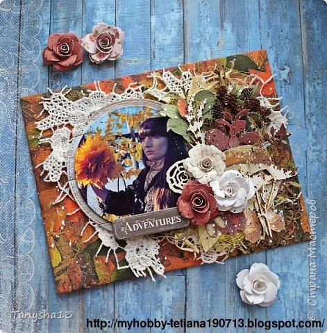 """Всем привет!!! Сегодня еще хочу показать Вам небольшой МК как я делала свое тканевое панно по Доске вдохновения июня  """"Я Женщина!"""" для блога Скрап Релакс.Панно я сделала  в моем любимом ЭКО стиле,и с одной из любимых фотографий,вернее о памятных моментах того прекрасного октябрьского дня.Погода стояла волшебная,желтые листья лежали ковром,и мы с семьей решили выйти на маленькую фотосессию.На этой фотографии глядя в даль,я задумалась о прекрасном,о новых начинаниях и приключениях которые ждут меня впереди )))).      Размер панно 18 см * 21 см,в работе использовала переплетный картон,синтепон,ткань,вырубку,высечки,шишки,стеклянный камушек,чипборд,сизаль,кружево,цветочки,акриловая краска. Вот такое панно у меня получилось: фото 29"""