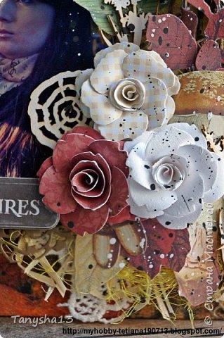 """Всем привет!!! Сегодня еще хочу показать Вам небольшой МК как я делала свое тканевое панно по Доске вдохновения июня  """"Я Женщина!"""" для блога Скрап Релакс.Панно я сделала  в моем любимом ЭКО стиле,и с одной из любимых фотографий,вернее о памятных моментах того прекрасного октябрьского дня.Погода стояла волшебная,желтые листья лежали ковром,и мы с семьей решили выйти на маленькую фотосессию.На этой фотографии глядя в даль,я задумалась о прекрасном,о новых начинаниях и приключениях которые ждут меня впереди )))).      Размер панно 18 см * 21 см,в работе использовала переплетный картон,синтепон,ткань,вырубку,высечки,шишки,стеклянный камушек,чипборд,сизаль,кружево,цветочки,акриловая краска. Вот такое панно у меня получилось: фото 39"""