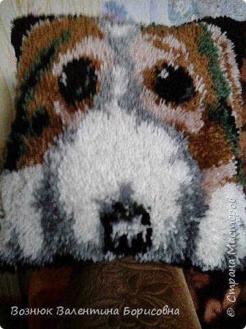 ковровая вышивка собачка