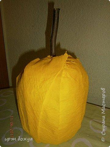 Сегодня у меня сладкое яблочко. Идея от Натали G http://stranamasterov.ru/node/1099130?c=favorite . Только у нее круглое яблочко и зеленое, я сделала желтое и немного вытянутое. Хвостик от настоящей яблони. Конфет ушло примерно 1 кг 200 гр. В высоту примерно 30 см с хвостиком. фото 7