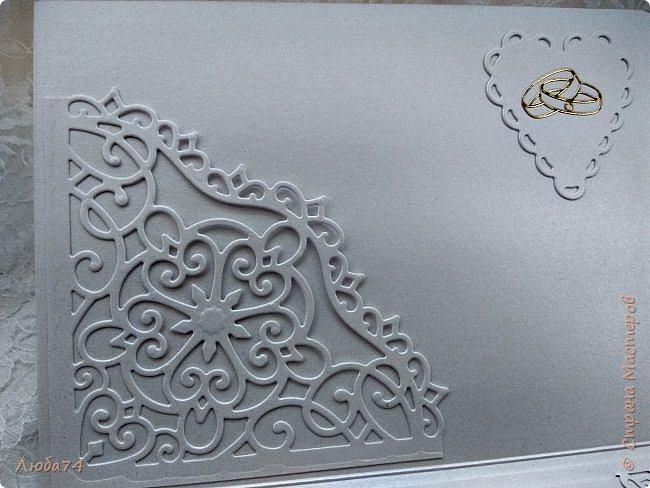 Всем, доброго дня! Хочу показать вам нежную, белую свадебную открыточку и расадочные карточки.  фото 15