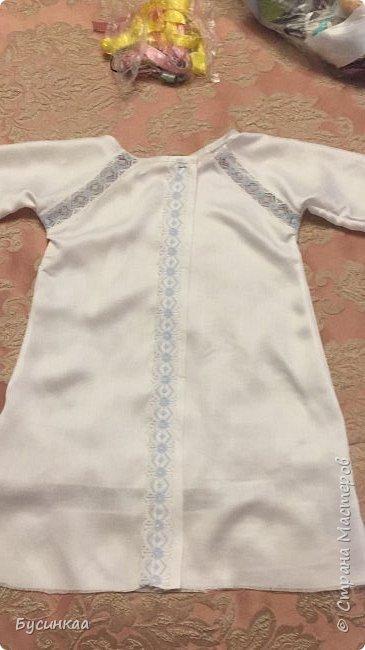 Крещение, важное событие в жизни православного человека, а Крестильная рубашечка, это символ чистоты души. Эту рубашечку я сшила для своего любимого внука, шила с особым трепетом и любовью. фото 4